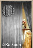Fadenvorhang 150 cm x 500 cm silber glänzend (BxH) 001