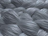 Fadenvorhang 150 cm x 600 cm (BxH) silber 002