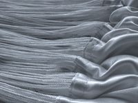 Fadenvorhang 150 cm x 600 cm (BxH) silber 003