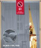 Fadenvorhang Kaikoon 150 cm x 600 cm silber in B1 schwer entflammbar 001