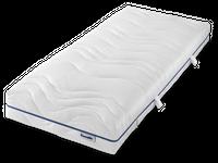 """Dunlopillo Matratze Home 3000  7-Zonen Kaltschaum-Matratze   Matratzen // Lattenroste // Betten topmodern und qualitativ hochwertig  Produktinformationen   Das Modell 3000 stellt den Einstieg in die """"Home-Reihe"""" von Dunlopillo dar. Der innovative Coltex HRX Kaltschaum formt das ergonomische 7-Zonen Profil, welches sowohl für Rückenschläfer, als auch für Seiten- und Aktivschläfer geeignet ist. Der hochwertige Aktivklimabezug """"Dry Comfort"""" ist mittels Reißverschluß abnehmbar und waschbar bis 60° C.  Matratzenkern 18 cm hoher Kern punktelastischer Coltex® HRX-Kern für besondere Langlebigkeit  7 ergonomischen Zonen sorgen für zuverlässigen Komfort und körpergerechte Anpassung 10 Jahre Garantie gegen das Durchliegen des Kerns zwei verschiedene Härtegrade: H2 bis 75 kg H3 ab 75 kg  Matratzenbezug der mit Wendegriffen ausgestattete DryComfort-Bezug bietet ein ausgewogenes und hygienisches Schlafklima hochelastisch, und mittels Reißverschluß komplett abnehmbar und waschbar bis 60° C Oberstoff bestehend aus: 42% Viskose, 41% Polyester, 17% Polyamid Unterstoff bestehend aus: 100% Polypropylen Füllung: 100% Polyester Kernhülle: 100% Polyamid Qualität entwickelt im Dunlopillo Schlaflabor Ökö Tex Standard klimaaktiv und antiallergen regelmäßiges Wenden erhöht die Lebensdauer ihrer Matratze Abmessungen Gesamthöhe: ca. 21 cm in verschiedenen Größen erhältlich"""