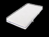 Dunlopillo Matratze Life 4100  7-Zonen Kaltschaum-Matratze   Matratzen // Lattenroste // Betten topmodern und qualitativ hochwertig   Produktinformationen   Mit ihrem Coltex HRX Kern mit speziell eingearbeiteten Schulter-und Beckenzonen gewährleistet die LIFE 4100 ein bestmögliches Maß an Druckentlastung für den gesamten Körrper. Durch den anschmiegsamen, klimaregulierenden Aqualite Schaum gehört übeermäßiges, nächtliches Schwitzen der Vergangenheit an. Abgerundet wird das wohltuende Schalfklima mittels optimierten AirControl-Bezuges, welcher abnehmbar, teilbar und waschbar bis 60°C ist.  Matratzenkern 16 cm hoher Kern punktelastischer Coltex® HRX-Kern für besondere Langlebigkeit  Classic-Ausstattung mit 4cm Aqualite Schaum und 12 cm Coltex Kaltschaum 7 ergonomischen Zonen sorgen für zuverlässigen Komfort und körpergerechte Anpassung 10 Jahre Garantie gegen das Durchliegen des Kerns zwei verschiedene Härtegrade: H2 bis 75 kg H3 ab 75 kg  Matratzenbezug der mit Wendegriffen ausgestattete AirControl-Bezug ermöglicht ein klimaoptimiertes Schlafen hochelastisch, und mittels Reißverschluß komplett abnehmbar und waschbar bis 60° C Oberstoff bestehend aus: 99% Polyester, 1% Elastan Unterstoff bestehend aus: 100% Polypropylen Füllung: 100% Polyester Kernhülle: 100% Polyamid entwickelt im Dunlopillo Schlaflabor Ökö Tex Standard klimaaktiv und antiallergen Abmessungen Gesamthöhe: ca. 17 cm in verschiedenen Größen erhältlich