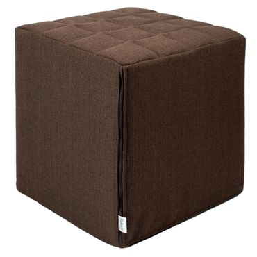 Sitzwürfel Kaikoon Braun Stoffbezug 40 cm x 40 cm x 45 cm