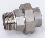 Edelstahl Verschraubung flach dichtend Schweißende x AG 1.4408 AISI 316 V4A Nr. 317 001