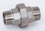 Edelstahl Verschraubung flach dichtend AG x AG 1.4408 AISI 316 V4A Nr. 336, 321 001