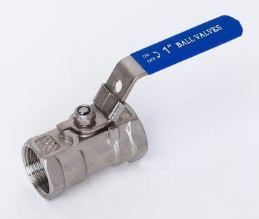 Edelstahl Kugelhahn 1-teilig reduzierter Durchgang 1.4408 AISI 316 V4A Nr. 300
