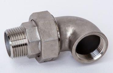 Edelstahl V4A Winkelverschraubung flach dichtend IG x AG Nr. 97 / 316W