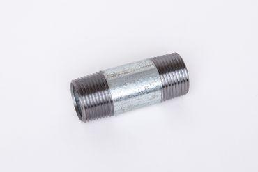 Stahl verzinkt Rohrdoppelnippel ST37.2, 1.0038, S235JRG2, Nr. 23