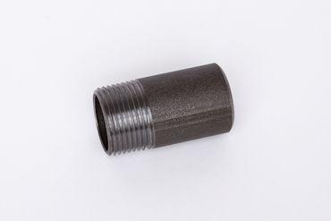 Stahl schwarz Anschweißnippel ST37.2, 1.0038, S235JRG2, Nr. 23a