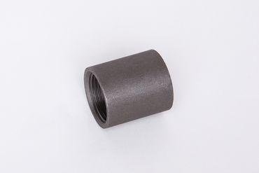 Stahl schwarz Muffe ganze Länge ST37.2, 1.0038, S235JRG2, Nr. 16