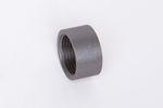 Stahl schwarz Muffe halbe Länge ST37.2, 1.0038, S235JRG2, Nr. 16D 001