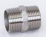 Edelstahl NPT Doppelnippel 1.4408 AISI 316 V4A Nr. 280, 240 001