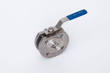 Edelstahl Kompakt Flanschkugelhahn 1.4408 AISI 316 V4A Nr. 352C