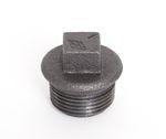 Temperguss 4-kant Stopfen schwarz DIN EN 10242, DIN 2950, Nr. 290 / T9 001