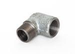 Stahl Winkel 90° IG x AG verzinkt DIN EN 10241, DIN 2987, Nr. 13a 001