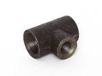 Stahl T-Stück reduziert schwarz DIN EN 10241, DIN 2987, Nr. 14 001