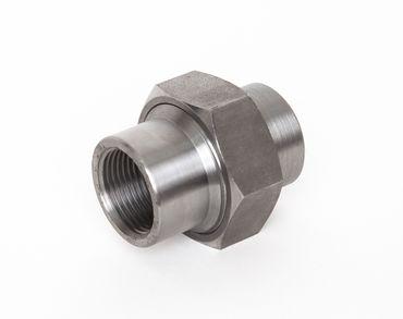 Stahl Verschraubung flach dichtend IG x IG schwarz DIN EN 10241, DIN 2993, Nr. 10