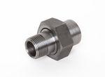 Stahl Einschraub-Vorschweißverschraubung flach dichtend AG x Schweißende schwarz DIN EN 10241, DIN 2993, Nr. 110 001