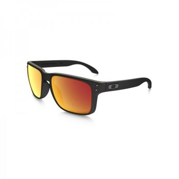 Oakley HOLBROOK Sonnenbrille Matte Black / Ruby Iridium Polarized