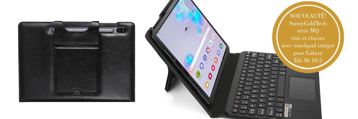 MQ pour Galaxy Tab S6 10.5 - Etui avec clavier bluetooth pour Samsung Galaxy Tab S6 10.5 | Housse avec clavier, touchpad (pavé tactile) intégré en clavier pour Samsung Galaxy Tab S6 10.5 LTE SM-T865 , Galaxy Tab S6 WiFi SM-T860