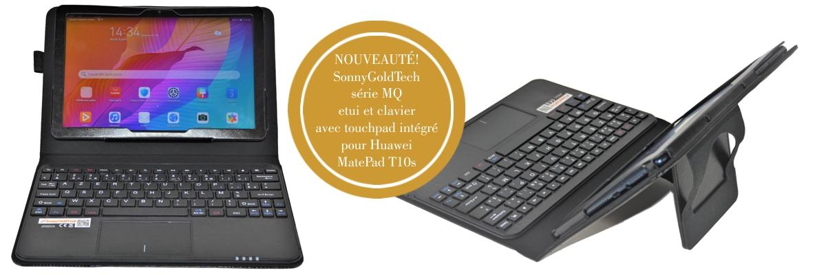 MQ pour Huawei MatePad T 10s - Etui avec clavier français AZERTY pour Huawei MatePad T 10s   Housse avec clavier Bluetooth, touchpad (pavé tactile) intégré pour Huawei MatePad T 10s