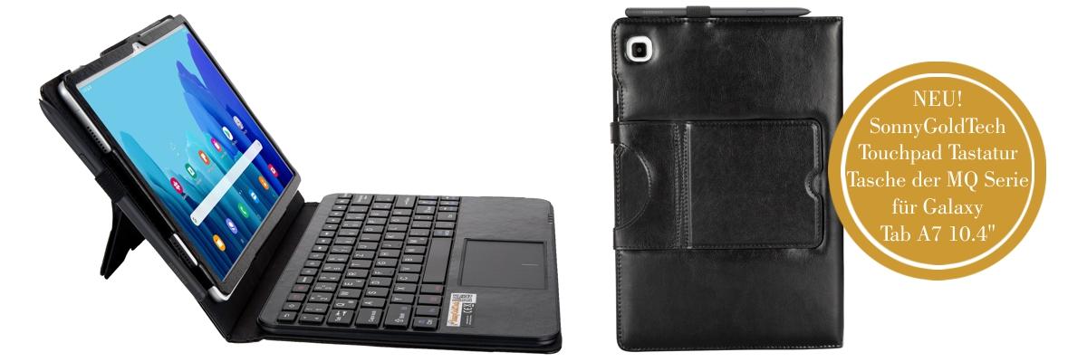 MQ für Galaxy Tab A7 10.4 - Bluetooth Tastatur Tasche mit Multifunktions-Touchpad für Samsung Galaxy Tab A7 10.4'' | Tastatur Hülle für Galaxy Tab A7 LTE SM-T505 WiFi T500 | Tastatur Deutsch QWERTZ