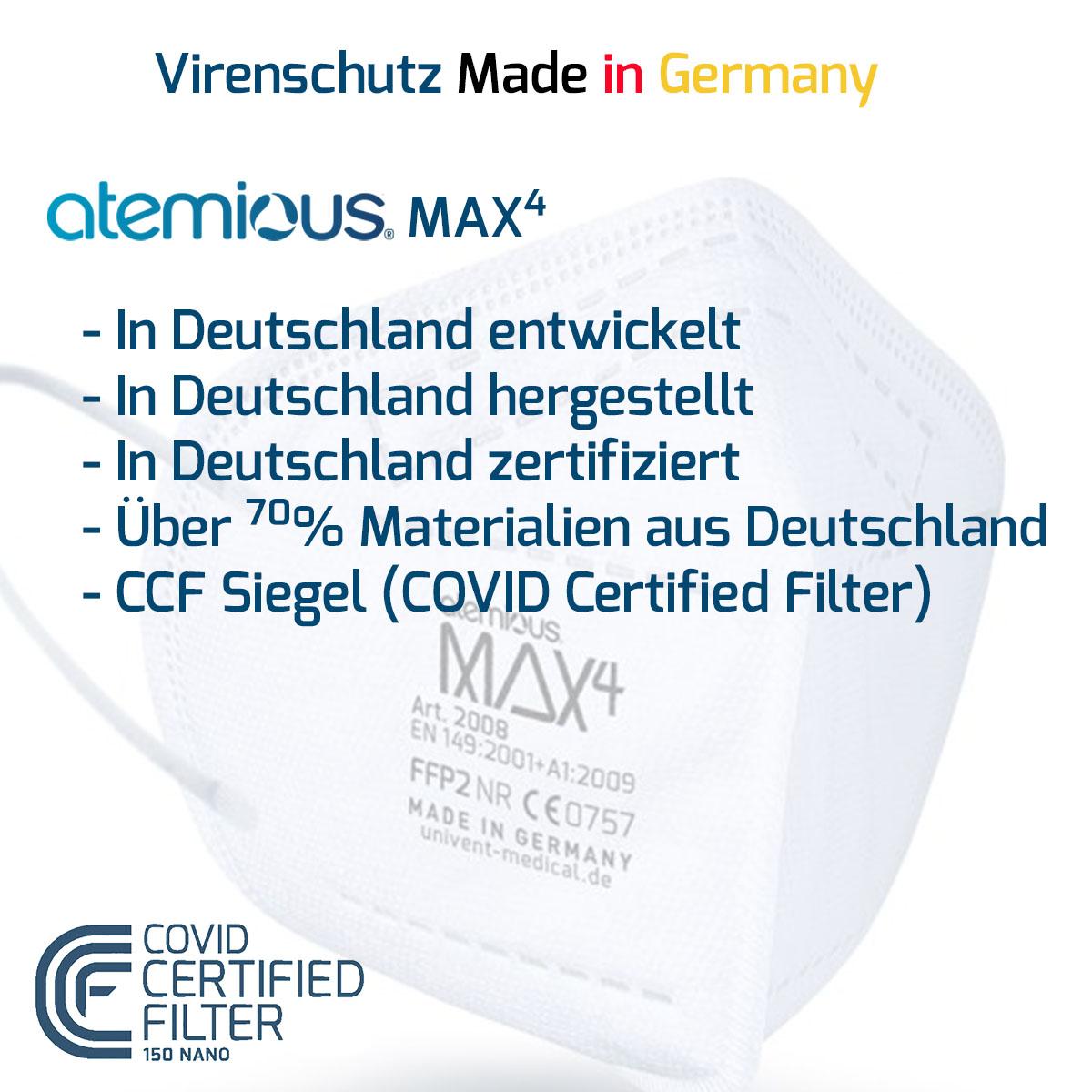 Virenschutz Made in Germany - die atemious MAX4, erhältlich bei FeineHeimat