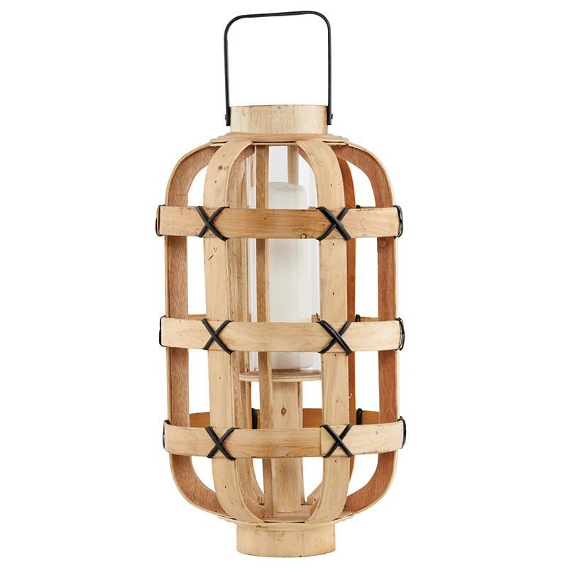 fc0256 laterne 39 bamboo 39 haus garten wohnen dekoration wohnaccessoires kerzen kerzenhalter. Black Bedroom Furniture Sets. Home Design Ideas