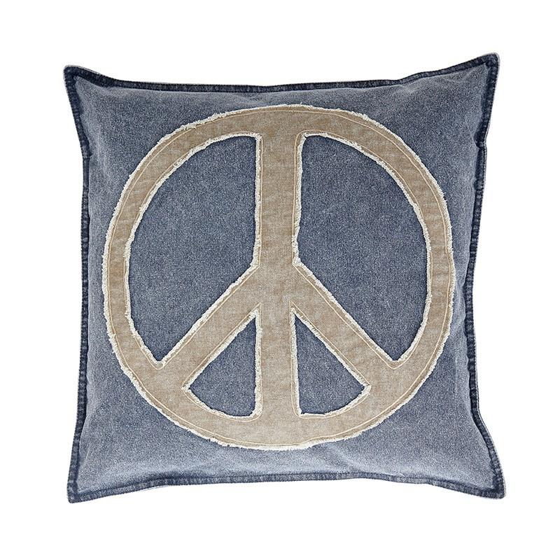 h bsch 506004 kissen mit peace zeichen blau incl f llung 50x50cm 5712772029138 ebay. Black Bedroom Furniture Sets. Home Design Ideas