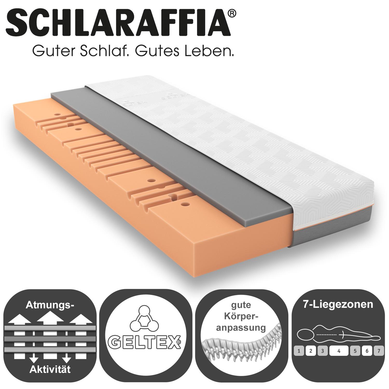 schlaraffia geltex quantum touch 200 matratze 90x200 cm h3 gelschaum matratzen 90 x 200cm. Black Bedroom Furniture Sets. Home Design Ideas