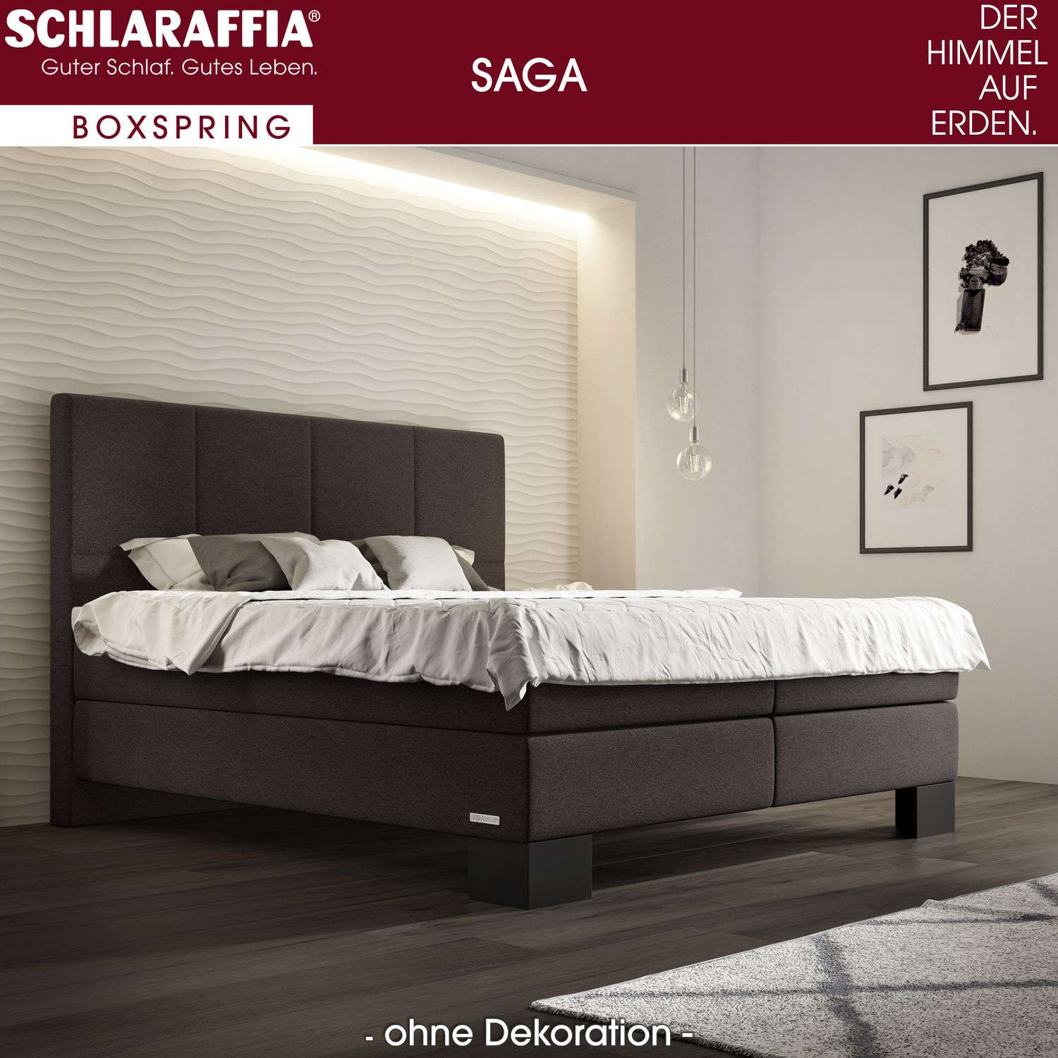 schlaraffia saga box cubic boxspringbett 100x200 cm boxspringbetten 100 x 200 cm. Black Bedroom Furniture Sets. Home Design Ideas