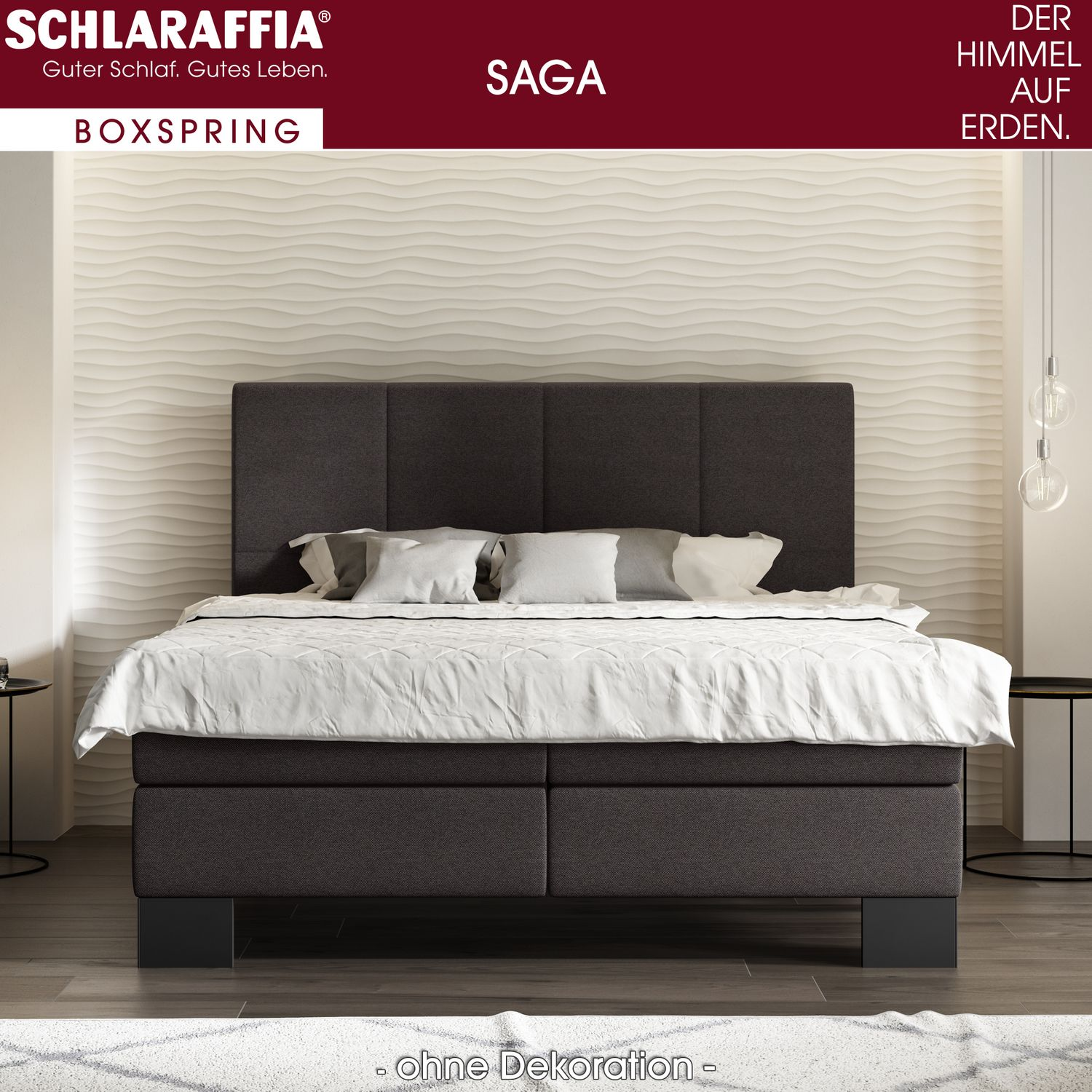 schlaraffia saga box cubic boxspringbett 180x220 cm boxspringbetten sondergr en 180 x 220 cm. Black Bedroom Furniture Sets. Home Design Ideas