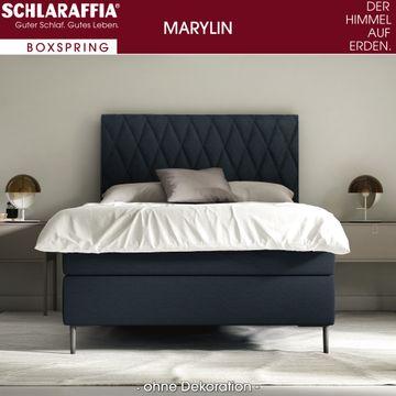 Schlaraffia Marylin Boxspringbett 180x200 cm dunkelblau inkl. GELTEX® Topper – Bild 1