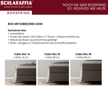 Schlaraffia Buddy Holly Eiche Box Cubic Boxspringbett 120x210 cm – Bild 5