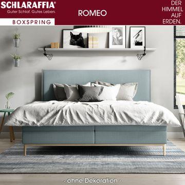 Schlaraffia Romeo Boxspringbett 180x200 cm hellblau inkl. GELTEX® Topper