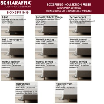 Schlaraffia Fidelio Nussbaum Box Cubic Boxspringbett 160x200 cm – Bild 6