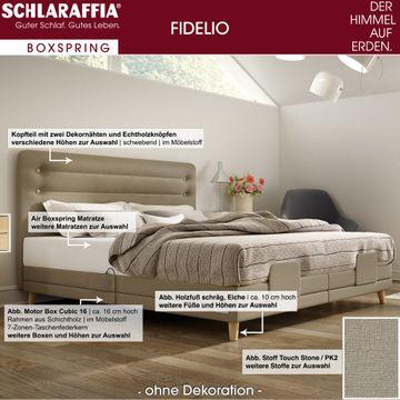 Schlaraffia Fidelio Nussbaum Box Cubic Boxspringbett 160x210 cm – Bild 3