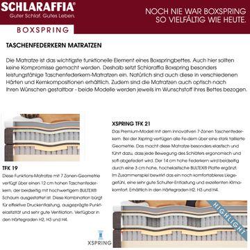 Schlaraffia Fidelio Nussbaum Box Cubic Boxspringbett 140x220 cm – Bild 7