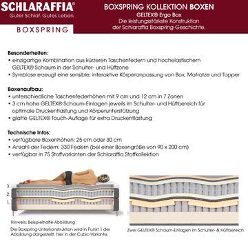 Schlaraffia Silence Nachtkonsole Eiche Geltex Ergo Box Boxspringbett 200x200 cm – Bild 6
