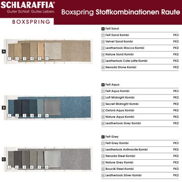 Schlaraffia Silence Nachtkonsole Eiche Geltex Ergo Box Boxspringbett 200x200 cm – Bild 11