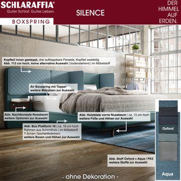 Schlaraffia Silence Nachtkonsole Eiche Geltex Ergo Box Boxspringbett 200x200 cm – Bild 3