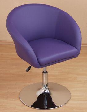 Lounge-Chair / Drehsessel lila/chrom, 8230.CPL von Heinz Hofmann