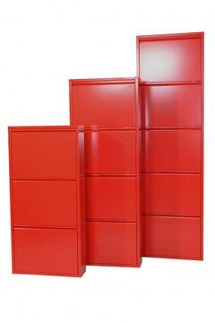 Metallschuhschrank 5 Klappen rot, 2335.RO von Heinz Hofmann – Bild 2