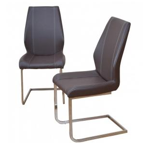 Heinz Hofmann Design-Schwingstuhl, 2er-Set, braun