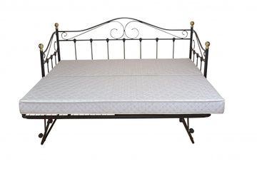 Metallbett/Day-Bed mit Gästebett, schwarz pulverbeschichtet, Lf ca. 2x 90x200 cm, 090-9116.S mit 090.9117.S von Heinz Hofmann – Bild 1