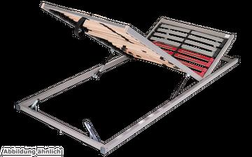 Schlaraffia Classic 28 Gasdruck 5-Zonen verstellbarer Lattenrost 100x200 cm – Bild 4