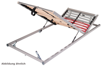 Schlaraffia Classic 28 Gasdruck 5-Zonen verstellbarer Lattenrost 140x220 cm – Bild 4