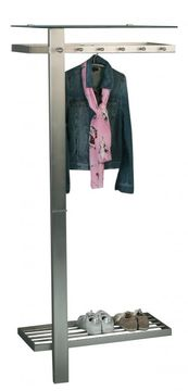 HomeTrends4You 819488, Garderobe Vito, Metall Edelstahloptik