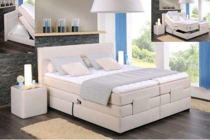 oschmann boxspringbett filou motor 180x200 cm stoff creme h2 h3 schlafen boxspringbetten 180. Black Bedroom Furniture Sets. Home Design Ideas