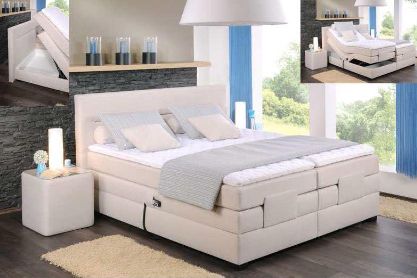 oschmann boxspringbett filou motor 180x200 cm stoff. Black Bedroom Furniture Sets. Home Design Ideas